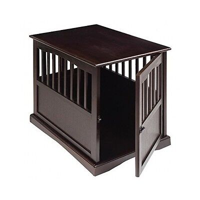 Dog Kennel Wood Large Crate Puppy Pet Cage Wooden Furniture End Table Bed