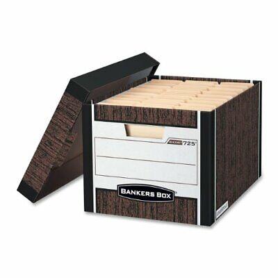 Bankers Box R-kive - Letterlegal Woodgrain 4pk - Stackable - 10.4 Height X