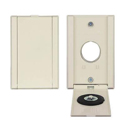 VacuValve Full Door Central Vacuum Inlet Valve Almond 775590A