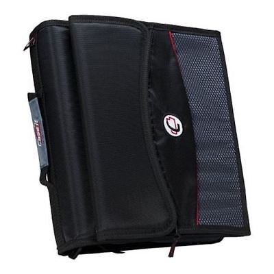 2 Zipper Binder With Removable Tab File Black