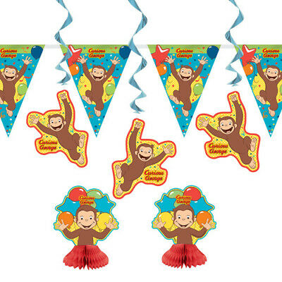Curious George Party Supplies (CURIOUS GEORGE Celebrate ROOM DECORATING KIT (7pc) ~ Birthday Party)