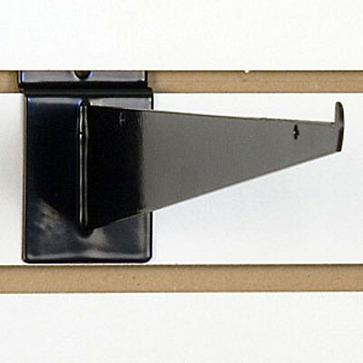Black Slatwall Shelf Bracket 14 Inches - Lot Of 8