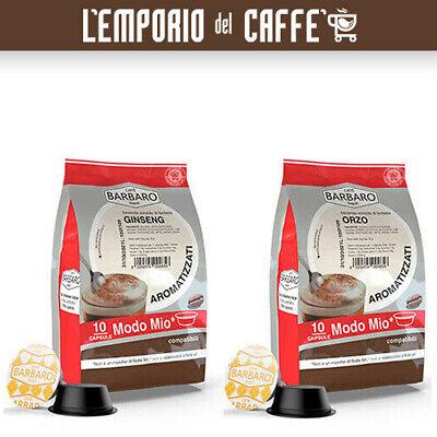 100 Cápsulas Café Barbaro Soluble Compatibles lavazza a Modo Mio Cebada &
