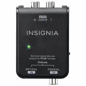 Insignia 0.91m (3 ft.) Digital to Analog Audio Converter Cable (NS-HZ313-C) - Black