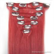 Clip in Human Hair Extensions Pink
