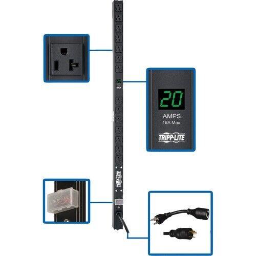 Tripp Lite PDU Metered 120V 20A 5-15/20R 14 Outlet L5-20P