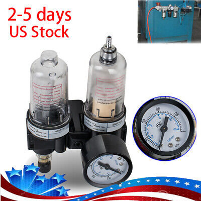 Air Pressure Regulator Oilwater Separator Trap Filter Airbrush Compressor