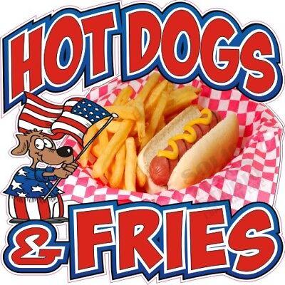 Hot Dogs Fries Concession Trailer Food Cart Truck Vinyl Sticker Menu Decal