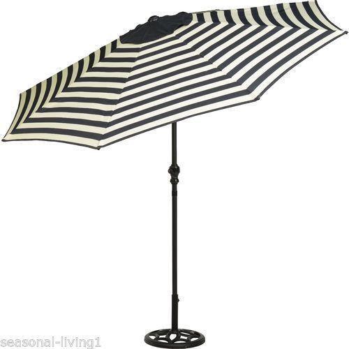 Striped Umbrella Ebay