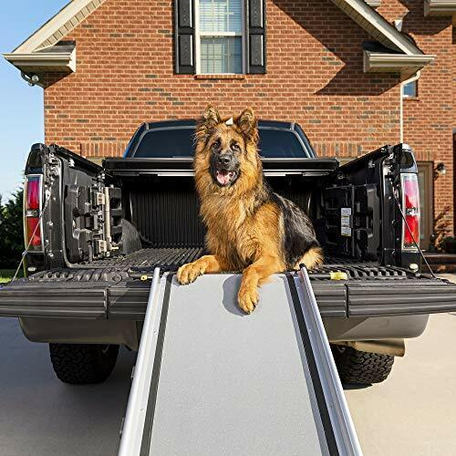 Happy Ride Extra Long Telescoping Dog Ramp - Portable Pet Ramp - Great for Cars