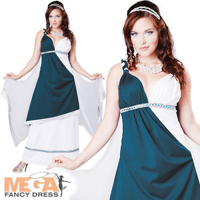 Toga Party Outfit (Roman Beauty Ladies Fancy Dress Ancient Grecian Toga Party Adults Costume)