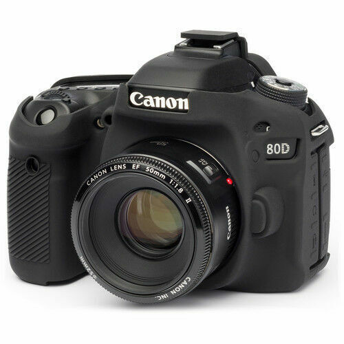 easyCover Canon 80D Black Camera Case Black Silicone EA-ECC80DB FREE SHIPPING