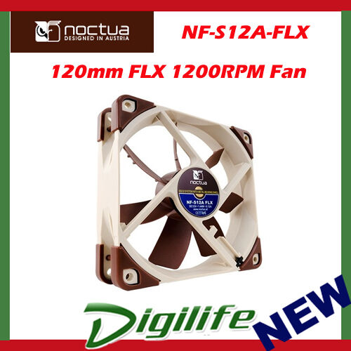 New Noctua 120mm NF-S12A FLX 1200RPM Case Cooling Fan