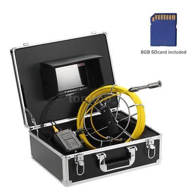 Lixada Waterproof Inspection System Snake Camera Sewer Video Camera Sdcard F4f3