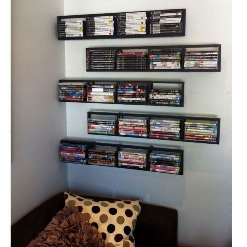 Eight Ikea Lerberg Cd Dvd Games Blu Ray Shelf Wall Rack