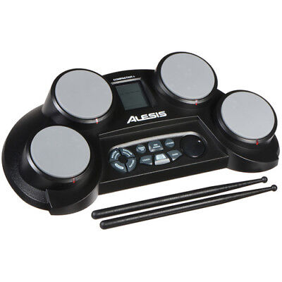 4-Pad Portable Tabletop Electronic Drum Kit with Drumsticks (Drumsticks Electronic Drums)