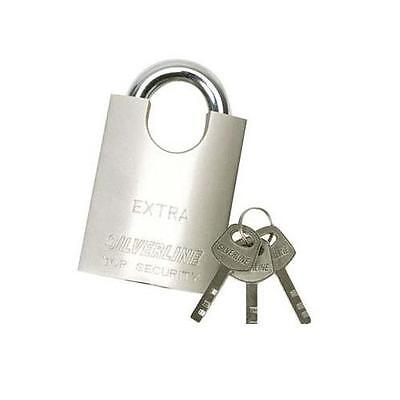 Gu650 Silverline Shrouded Padlock 40mm Locks And Accessories