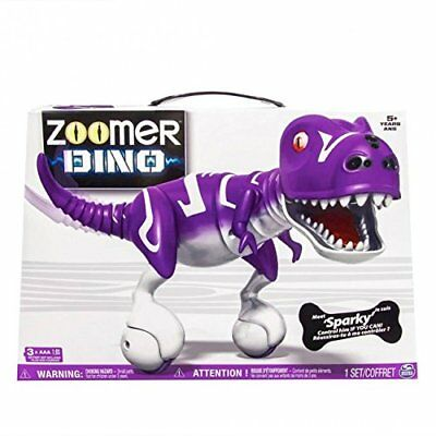 New Zoomer Dino Sparky   Purple Robotic Dinosaur Toy Interactive T Rex Robot