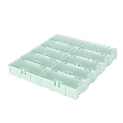 10pcs Anti-static Smt Smd Kit Lab Chip Components Screw Storage Box Case -us