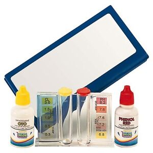 Trousse d 39 analyse liquide piscine kit test ph taux de for Chlore piscine