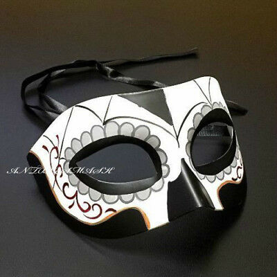 Halloween Day Of The Dead Men's Ancestry Living Costume Mask