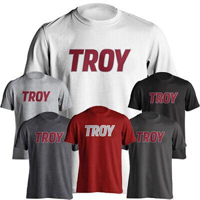 University Name T-shirt (Troy University Trojans School Name Wordmark Text Tee Short Sleeve Adult T-Shirt )