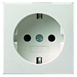 Gira Abdeckung für Steckdose System 55 Blende 092003 reinweiß glänzend