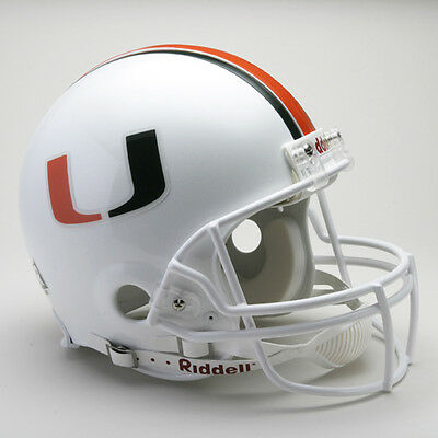 MIAMI HURRICANES NCAA Riddell ProLine Authentic VSR-4 Football Helmet