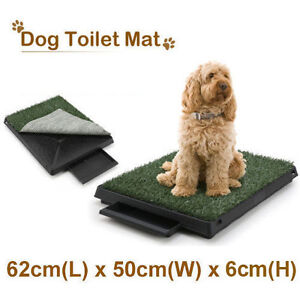 New Pet Dog Toilet Mat Indoor Portable Training Grass Potty Pad Loo Tray Large