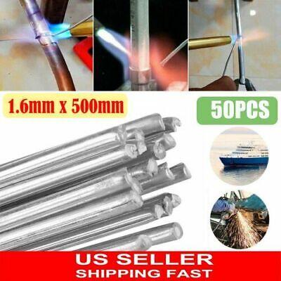 50pcs Aluminum Solution Welding Flux-cored Rods Wire Brazing Rod 1.6mm X 50cm