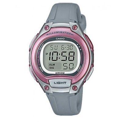 Casio LW203-8AV, Women's Digital Chronograph Watch, Gray Resin Band, Alarm