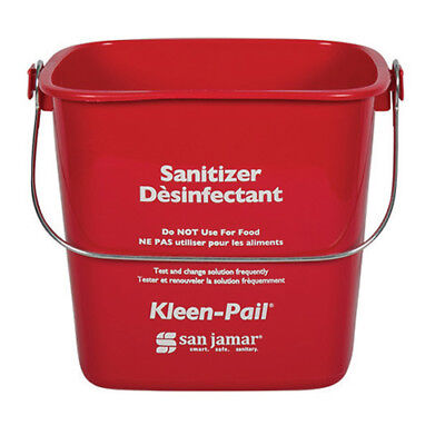 - Kleen-Pail Soap/Sanitizing Solution Safety Pail 3 Quart, Red