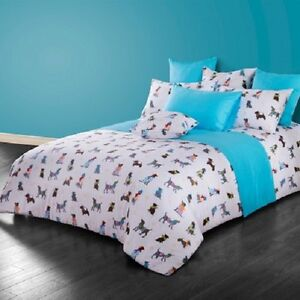 twin queen size dog puppy theme duvet cover bedding set girls boys ebay. Black Bedroom Furniture Sets. Home Design Ideas
