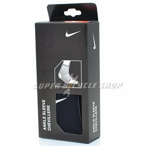 NIKE Breathable Compression Support Sports Ankle Sleeve , Black