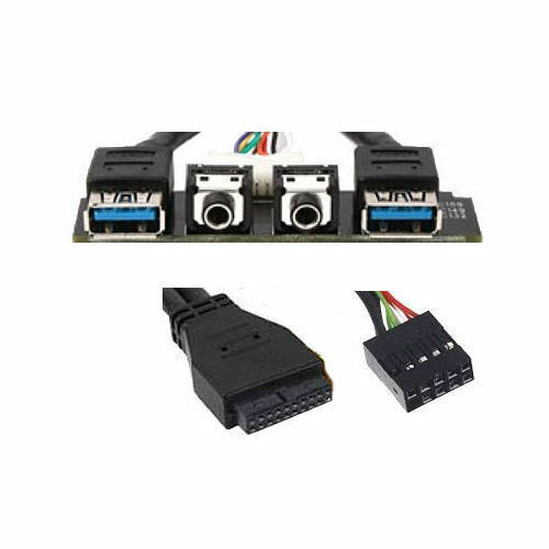 Silverstone G11303260 USB 3.0 Upgrade Cable Kit (2xUSB3.0, 2xAudio) Case Panel