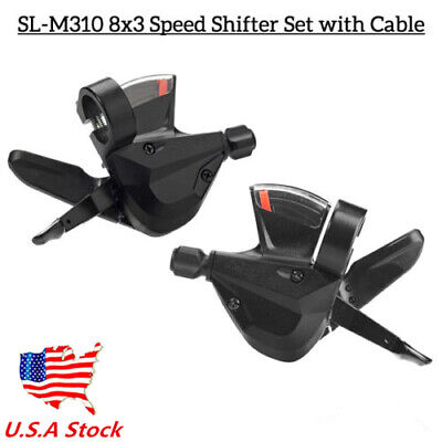 3x8 Speed Shift Lever Shifter Bike Bicycle Parts Acera SL-M310 High-Quality US