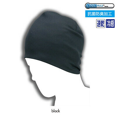 KOMINE AK-094 COOLMAX® Summer Knit Cap Black Free-Size