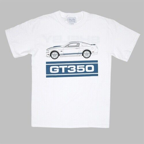Shelby GT350 2011 Launch T-Shirt XL Original Shelby NOS Blue Graphics