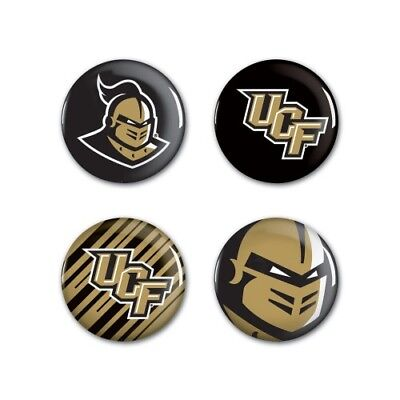 UCF Golden Knights Wincraft NCAA Button Pins 4 Pack 1-1/4