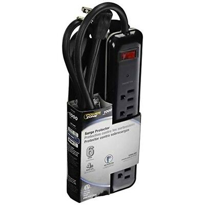 Power Zone Or802225 Surge 6 Outlet With 1000j Strip
