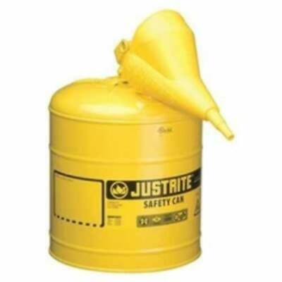 Justrite Mfg. Co. 7150210 Yellow Metal Safety Can Type 1 Five Gallon With