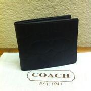 Mens Coach Embossed Wallet