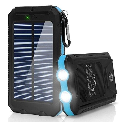 New Ayyie Solar Charger,10000mAh Solar Power Bank Portable E