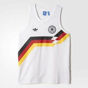 West Germany Adidas Originals Retro World Cup Italia 90 Vest / Tank Top - XL