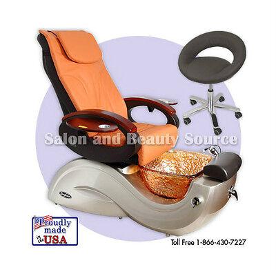 Pipeless Pedicure Pedi Spa Chair Toepia GX Glass Bowl Salon Equipment Furniture