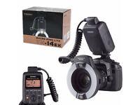 Yongnuo YN-14EX LITE E-TTL LED Flash Light w/ Macro Rings for Canon