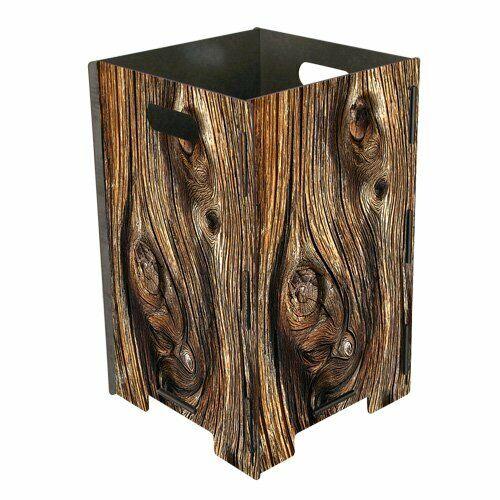 Papierkorb Mülleimer Abfallkorb Abfalleimer Büro aus Holz - Baumstamm 41x26 cm
