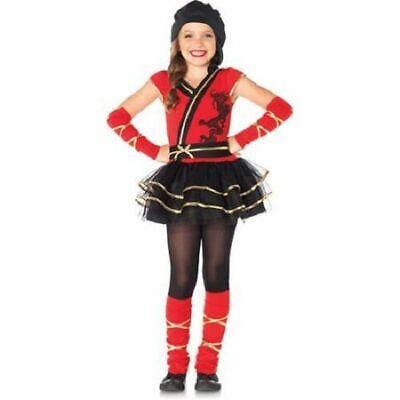 Ninja Princess Costume (girls NINJA PRINCESS ballerina Halloween costume SMALL 4-6 med 8-10 large)