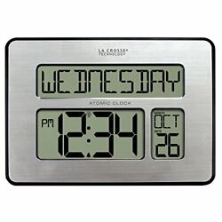 La Crosse Technology 513-1419-INT Atomic Full Calendar Clock with Extra Large Di
