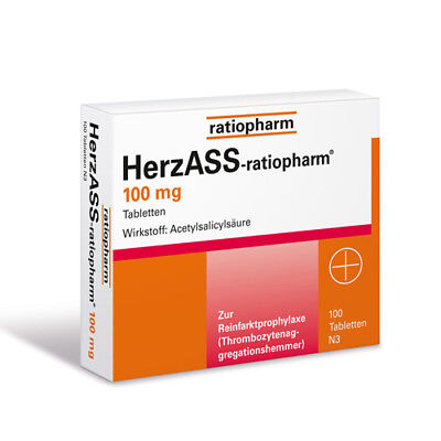 HERZASS ratiopharm 100 mg Tabl. 100St PZN 04561936
